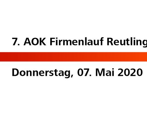 AOK Firmenlauf Reutlingen wird VERLEGT!